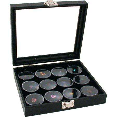 Glass Top Jewelry Display Case 12 Gem Jar Insert New Glass Jewelry Display Cases