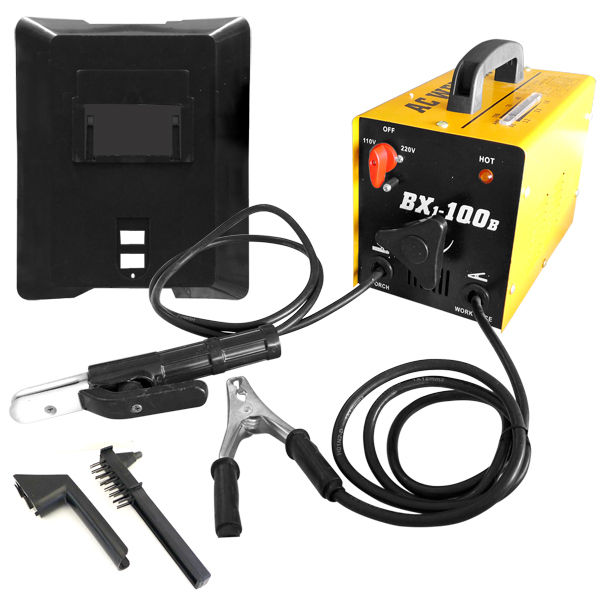 Hiltex 100 AMP AC Arc Rod Stick Welder | 110/220V Welding Machine Set