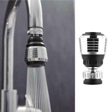 Sink Water Faucet Tip Swivel Nozzle Adapter Kitchen Aerator Tap Chrome