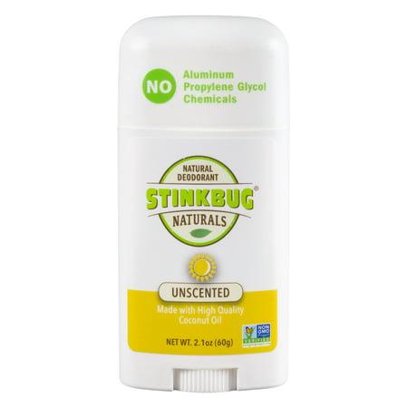 Stinkbug Naturals Unscented Stick Deodorant, 2.1 fl - Le Stick Natural