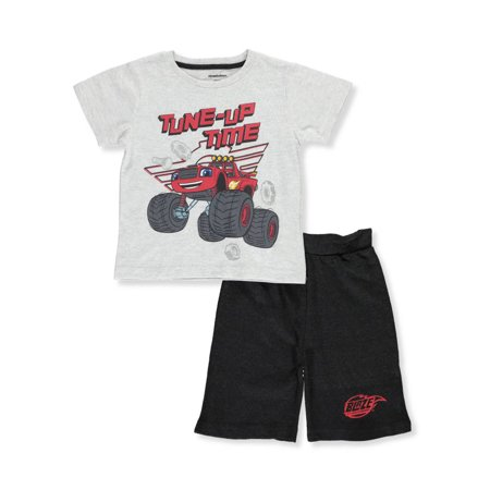 Blaze and the Monster Machines Boys' 2-Piece Shorts Set Outfit - Monsters Inc Outfit