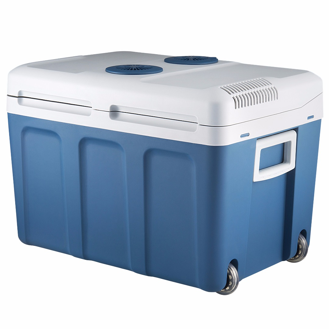 Knox 48 Quart Electric Cooler/Warmer with Dual AC and DC Power Cords (Blue)