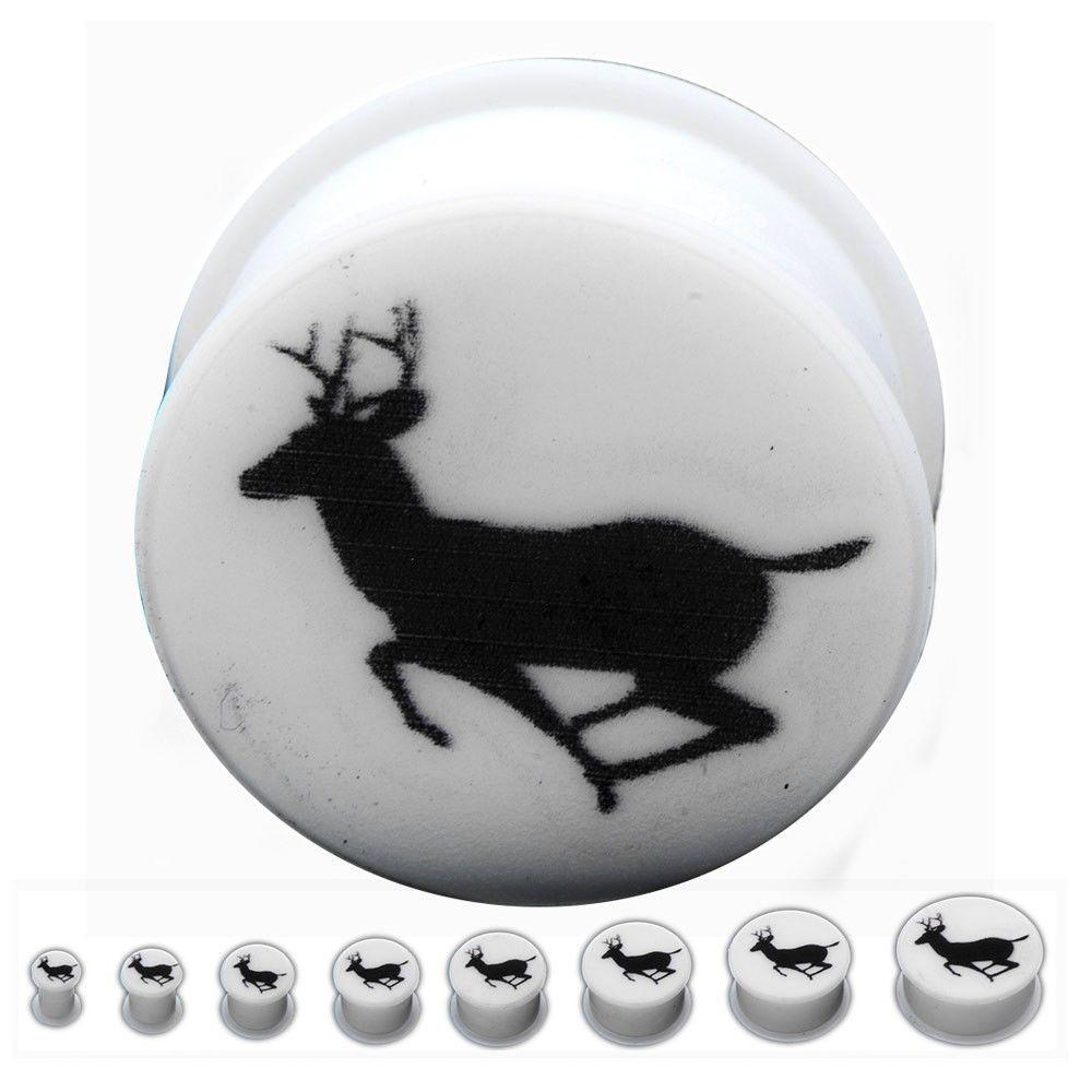 Deer Double Flare Silicone Ear Plugs Jewelry Sold as Pair