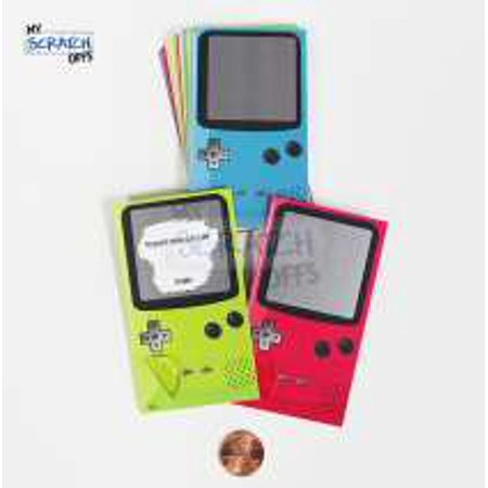 Scratch Off LunchNotes - Game Boy Console Themed Lunchbox Notes for Kids & Students - 25 Card Pack (10 Versions) - Version