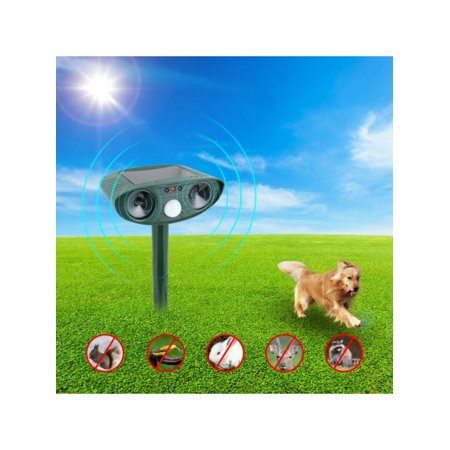 Topumt Outdoor Solar Ultrasonic Bird Animal Repeller Pest Deterrent Repellent PIR Sensor