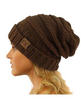 CC Winter Trendy Warm Oversized Chunky Baggy Stretchy Slouchy Skully Beanie Hat