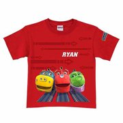 Personalized Chuggington Ridin' the Rails Toddler Boy T-Shirt, Red