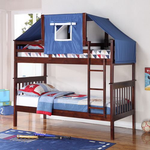 Donco Kids Donco Kids Twin Over Twin Bunk Bed Walmart Com