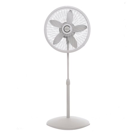 "Lasko 18"" Stand 3-Speed Fan with Cyclone Grill, Model #S18902, White"