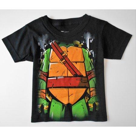 TURTLES NINJA BOYS TOP TEE SHIRT PRINTED - FACE OFF BLACK SZ 2T](Ninja Turtle Face Painting)