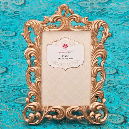 Fashion Craft Rose Gold Baroque Picture - Photo Frame Craft