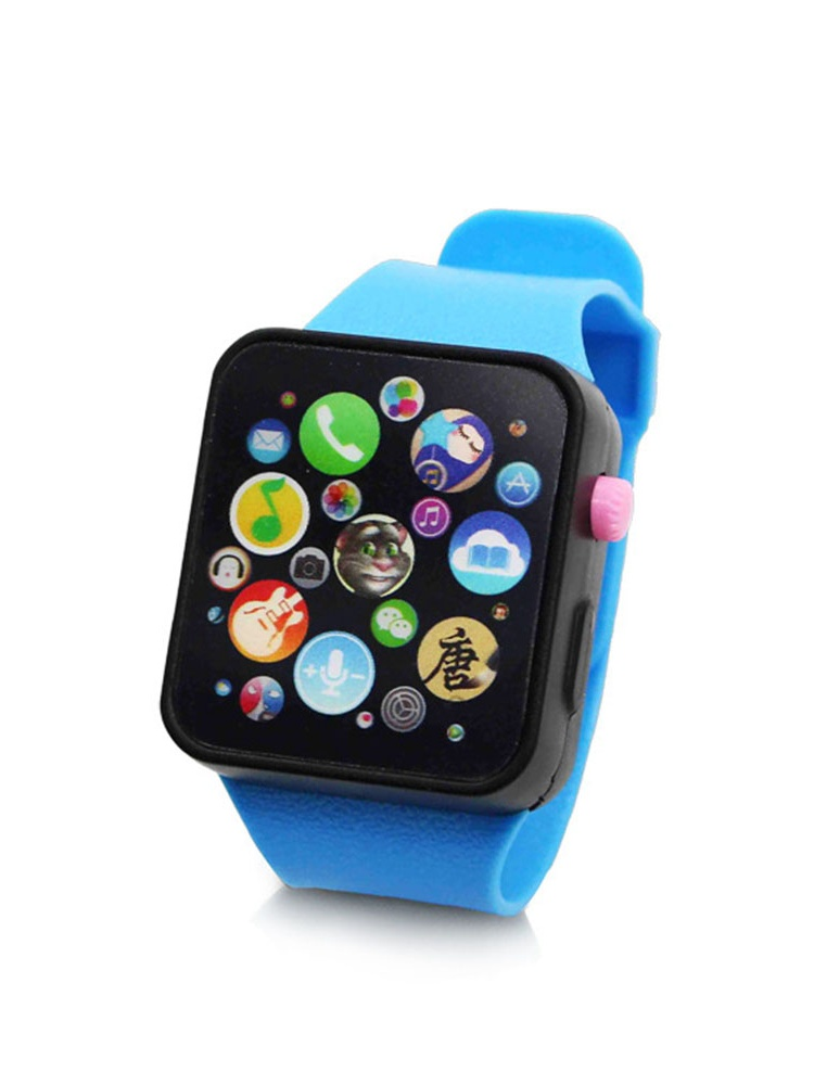 Children Multi-function Toy Watch Touch Screen Smartwatch Wristwatch for Early Education Color:Red watch strap by