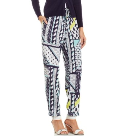 Eci Women's Printed Soft Pants Navy/Navy Size S