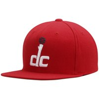 Washington Wizards Mitchell & Ness Current Logo Wool Solid Snapback Adjustable Hat - Red - OSFA