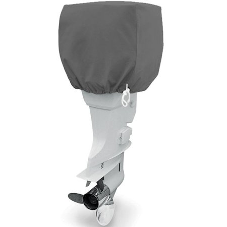 Trailerable Outboard Boat Motor Engine Cover 115-225 Horsepower - Gray Heavy Duty Water Resistant Thick Polyester Fabric