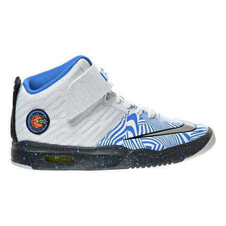 7a5373cfa40a Nike Air Akronite (GS) Big Kid s Shoes White Metallic Silver Photo Blue