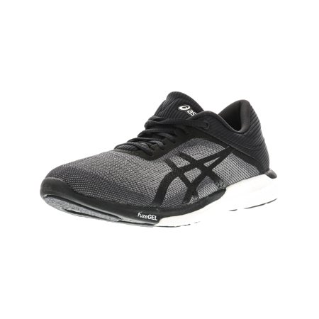 Asics Women's Fuzex Rush Mid Grey / Black White Ankle-High Running Shoe -
