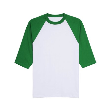 Pro Club Mens 3/4 Raglan Sleeve Shirt Baseball Jersey Premium Cotton ()