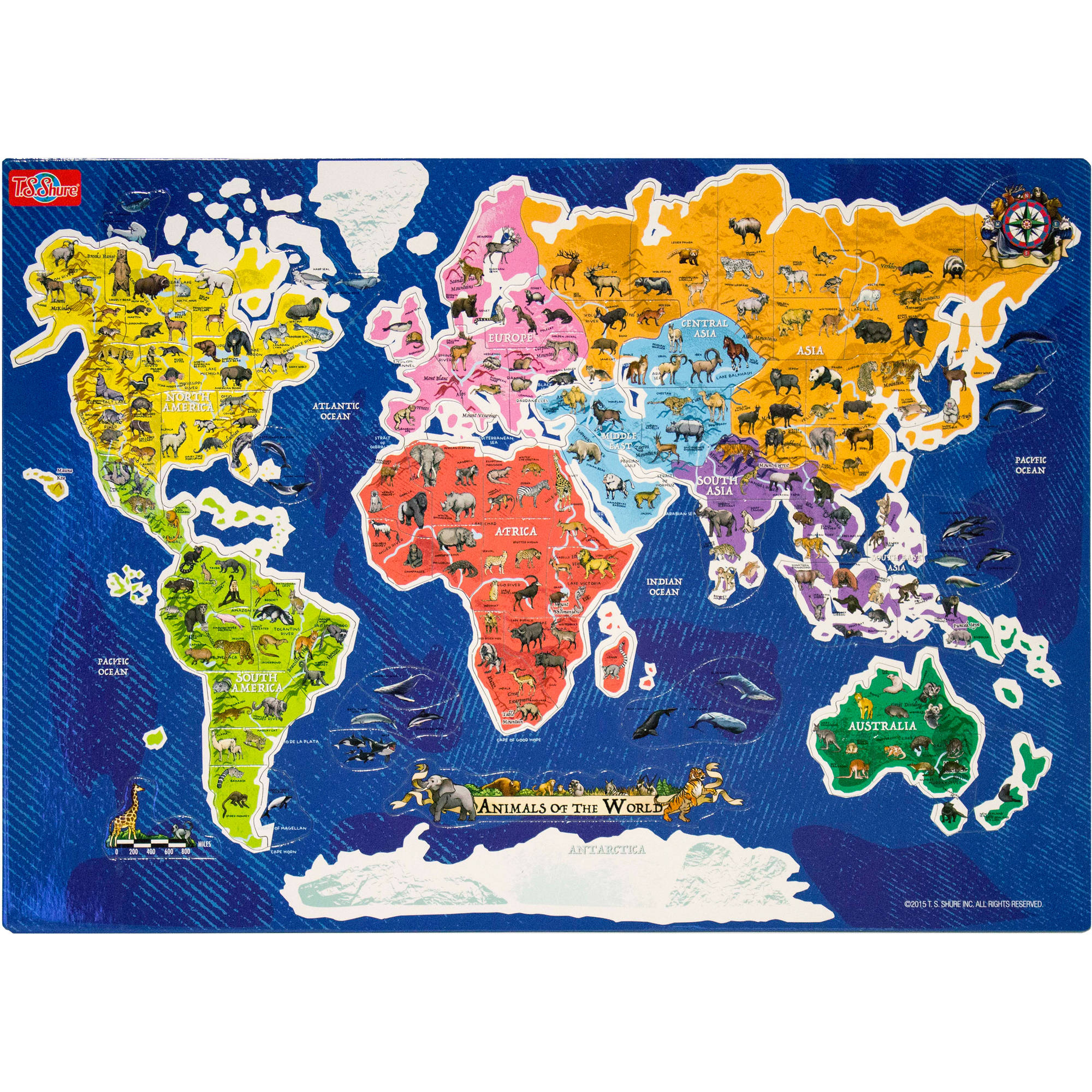 Ts shure animals of the world map magnetic playboard and puzzle ts shure animals of the world map magnetic playboard and puzzle walmart gumiabroncs Images