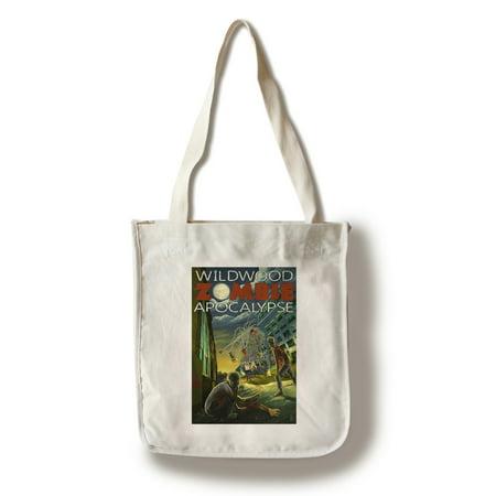 Wildwood, New Jersey - Zombie Apocalypse - Lantern Press Poster (100% Cotton Tote Bag -