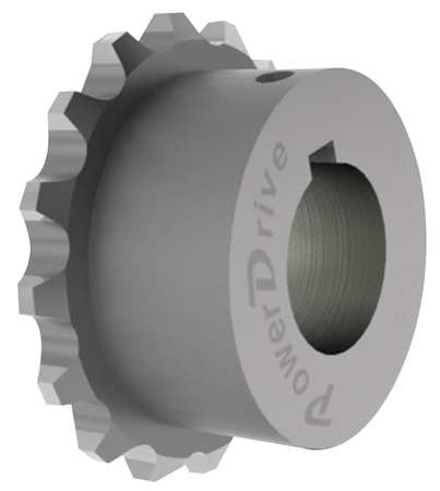 POWER DRIVE C4016X 1 1/4 Chain Coupling Sprocket, Bore 1 1/4 In