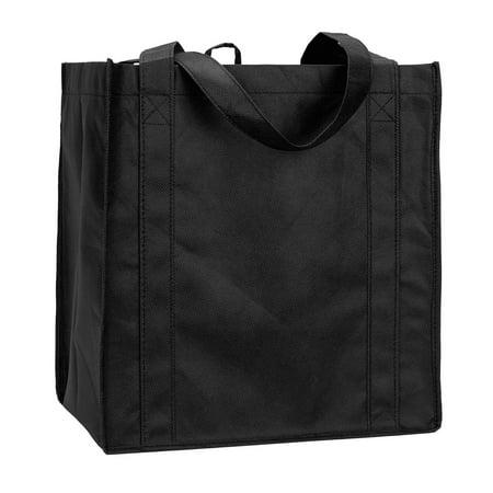 Liberty Bags Reusable Non-Woven Shopping Tote, Style R3000 - Black Shopping Bags