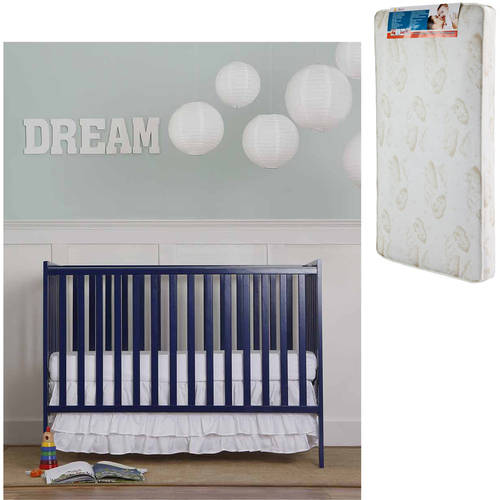 Dream On Me Synergy 5-in-1 Convertible Crib and Mattress Value Bundle