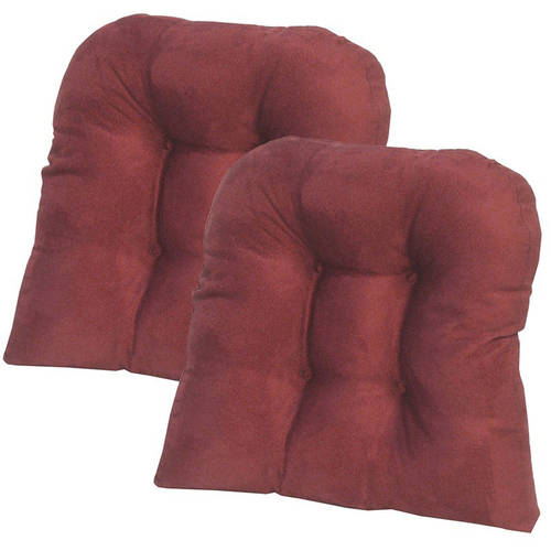 """Gripper Non-Slip 15"""" x 15"""" Obsession Tufted Universal Chair Cushions, Set of 2"""