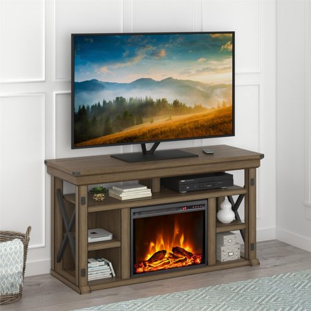 Ameriwood Home Wildwood 56'' TV Stand with Fireplace