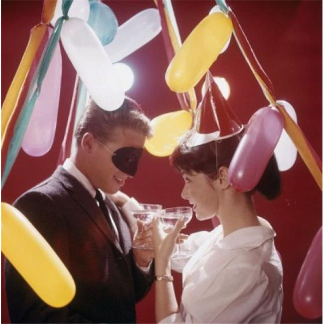 Posterazzi SAL3844308385 Young Couple Toasting with Wine at New Years Party Poster Print - 18 x 24 in. - image 1 of 1