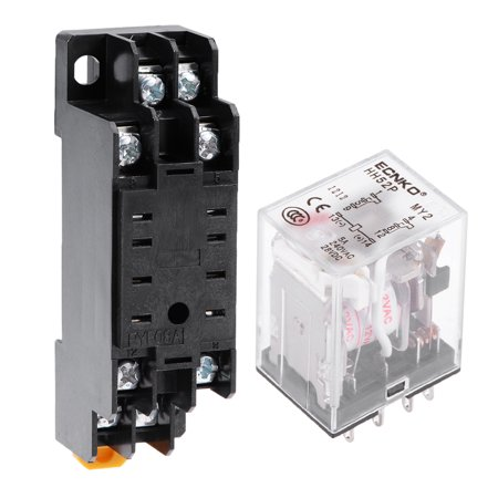 HH52P AC 12V Coil DPDT 8 Pins Electromagnetic Power Relay ... on