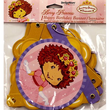 Strawberry Shortcake 'Berry Princess' Happy Birthday Banner (Strawberry Shortcake Birthday Banner)