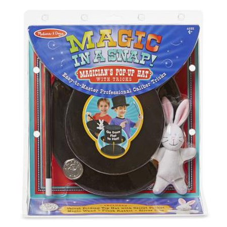 Melissa and Doug Magic in a Snap Magician's Pop-Up Magical Hat with Tricks