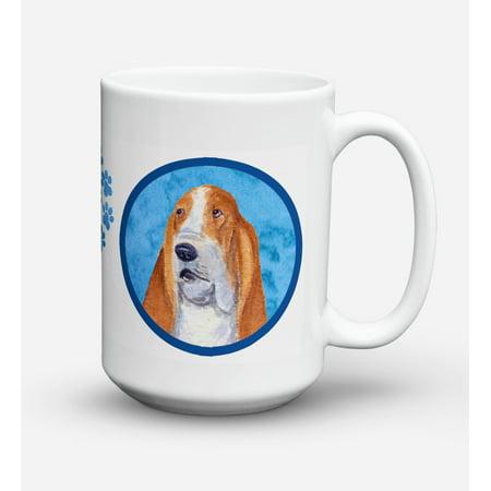 Basset Hound Dishwasher Safe Microwavable Ceramic Coffee Mug 15 ounce SS4804