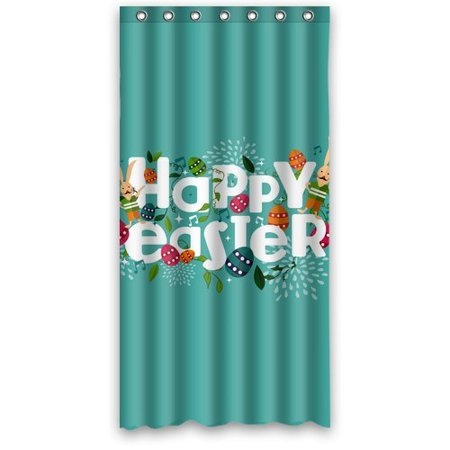 MOHome Happy Easter Shower Curtain Waterproof Polyester Fabric ...