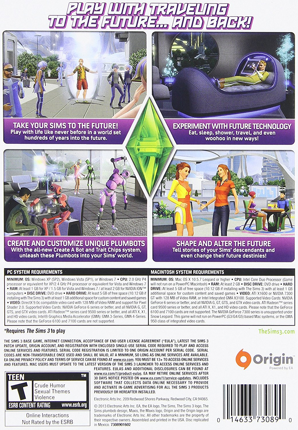 Ea The Sims 3 Into The Future - Simulation Game Retail - Dvd-rom - Mac, Pc  (73089)