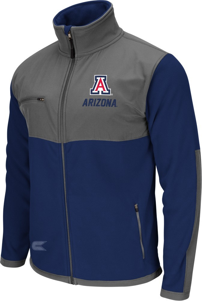 Men's Arizona Wildcats Full Zip Jacket Halfpipe Fleece by Colosseum
