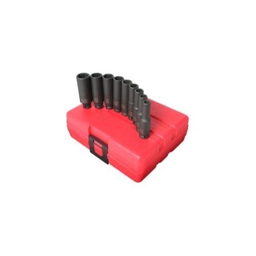 Sunex Socket Set Impact 1/4In. Drive 9 Pc. Deep Metric