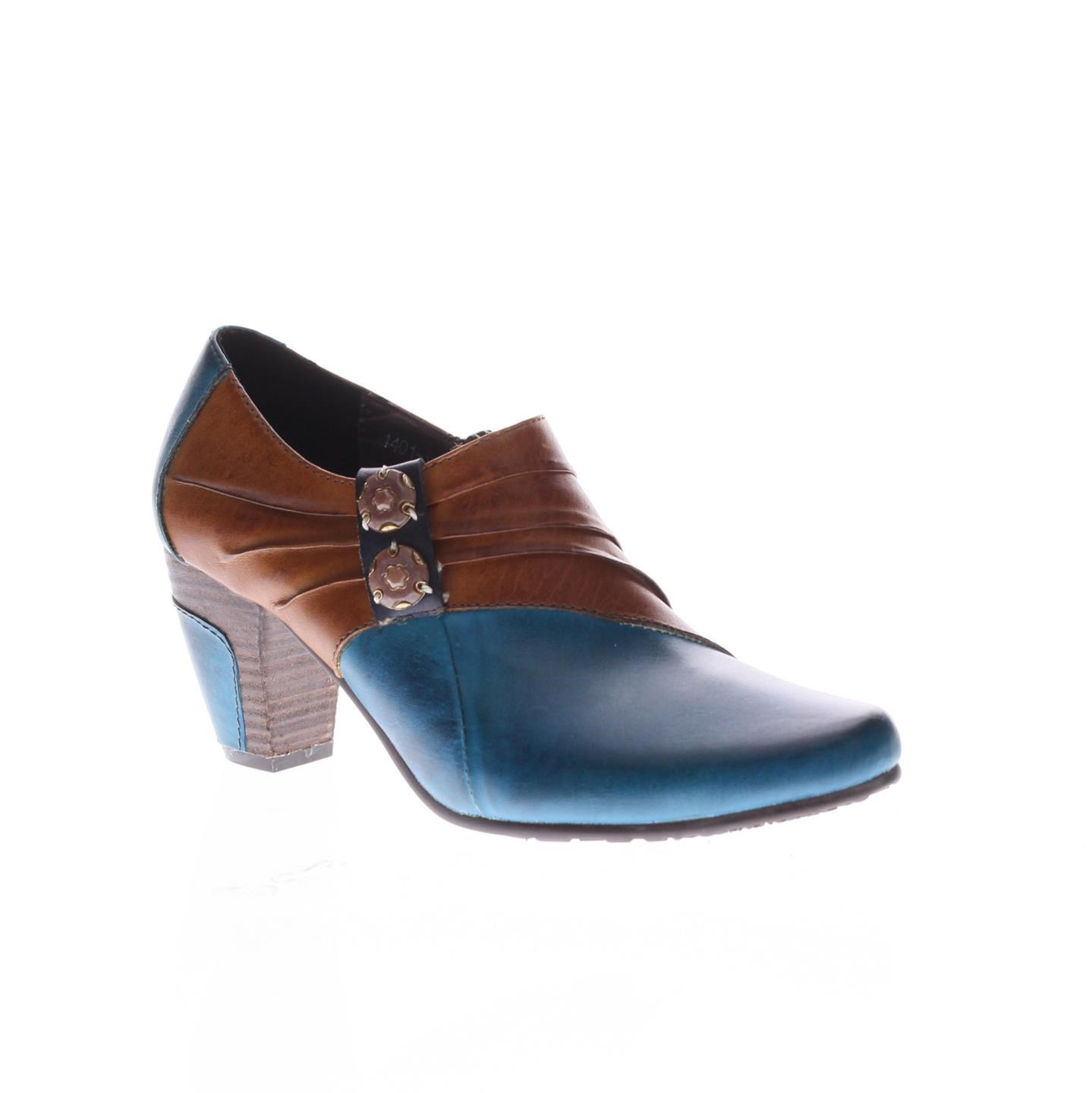 L'Artiste Joella By Spring Step Turquoise Leather Shoes 36 EU   6 US Women by Spring Step