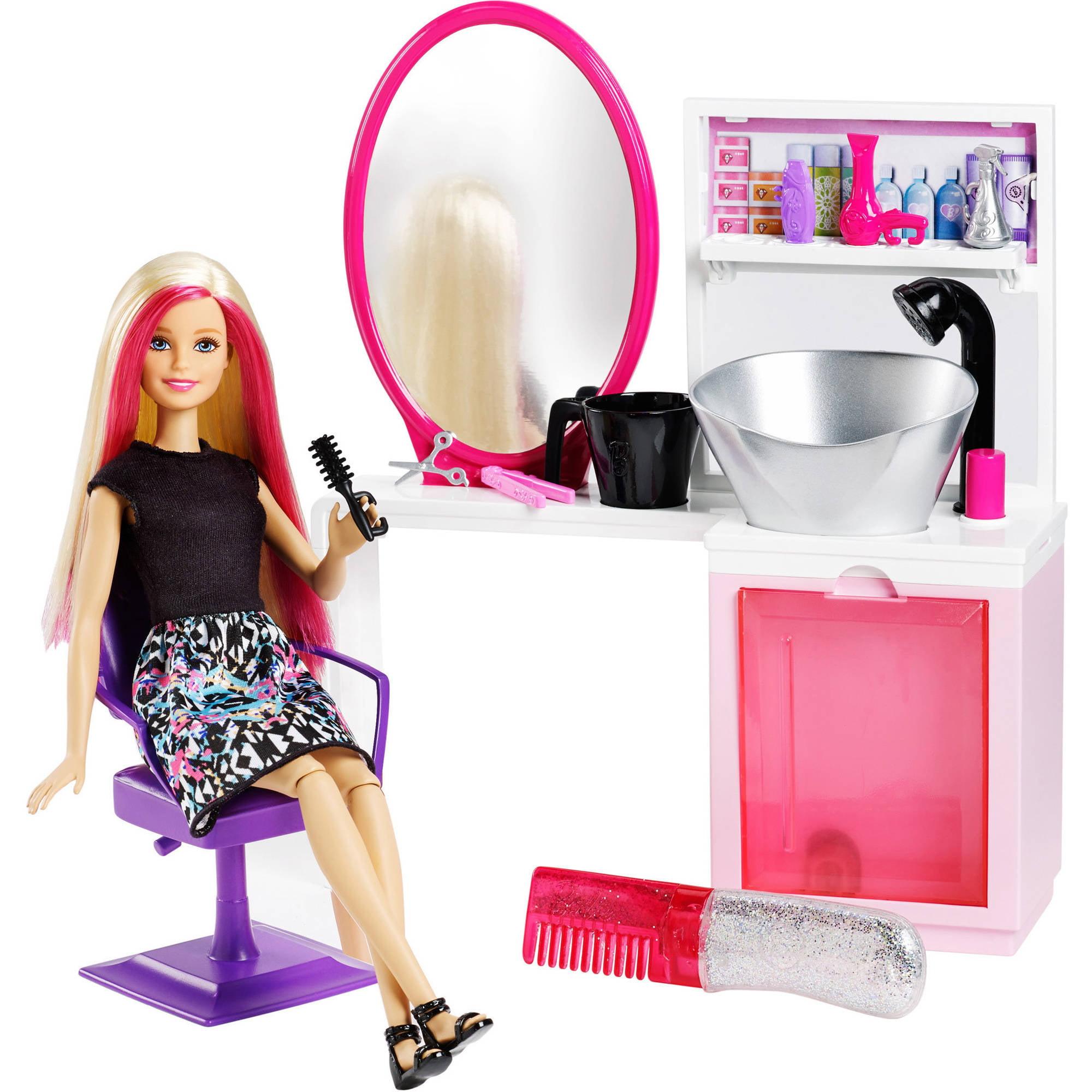 Barbie Sparkle Style Salon Doll & Playset Blonde by MATTEL INC.