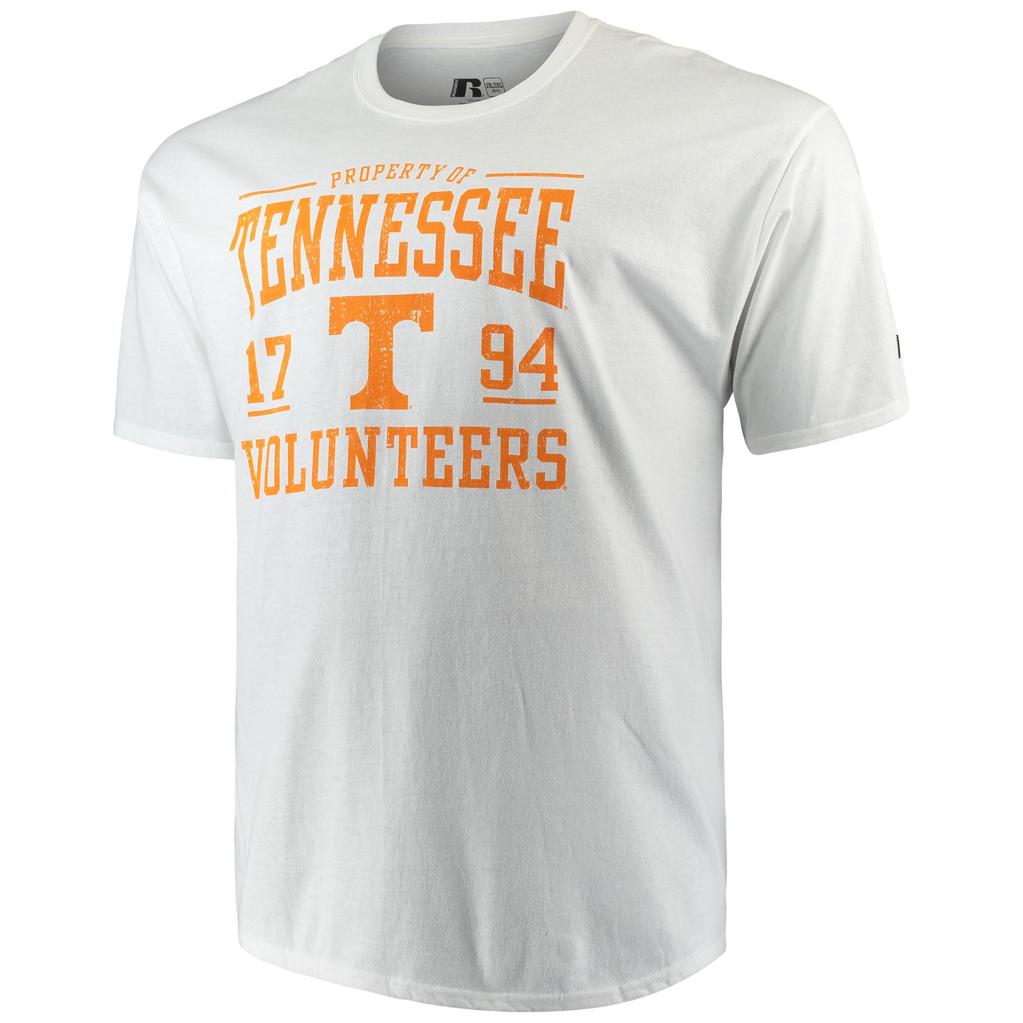 Russell NCAA Tennessee Volunteers, Big Men's Classic Cotton T-Shirt