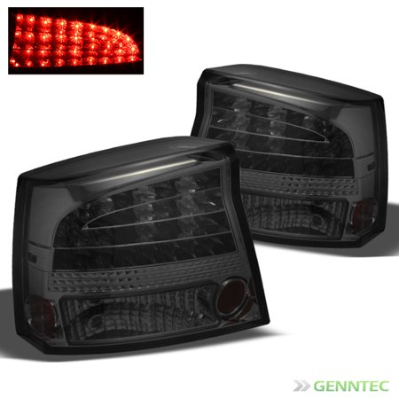 Smoked 2006-2008 Dodge Charger LED Tail Lights Rear Smoke Brake Lamp  Set Pair Left+Right 2007
