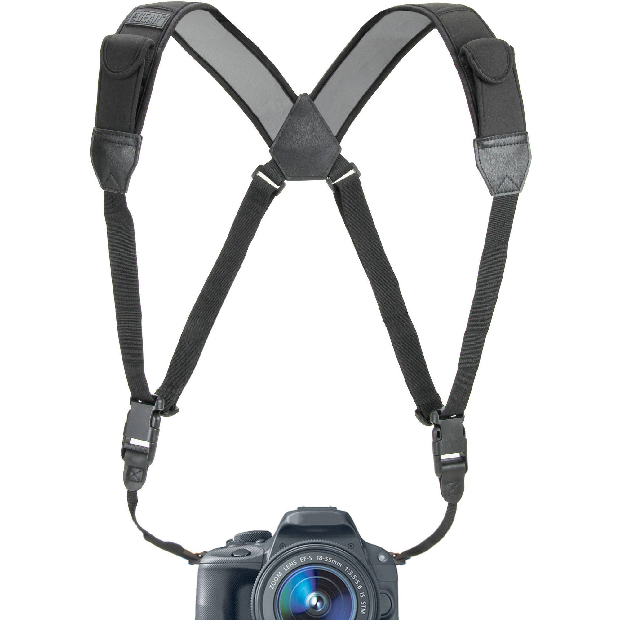 USA Gear DSLR Camera Harness Strap Kit with Comfort Padding and Quick Release System - Works with Canon , Nikon , Sony , Fujifilm , Samsung and More Cameras