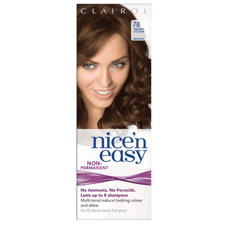 Clairol Nice n' Easy Hair Color #78 Medium Golden Brown (Pack of 1) UK Loving (Best Home Hair Dye Uk)