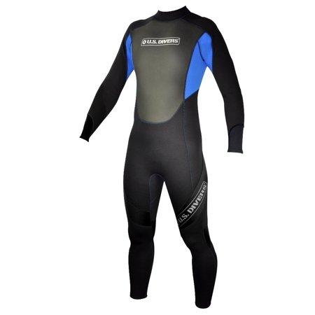 U.S. Divers Mercury Adult Full Wetsuit - Blue/Black - Medium