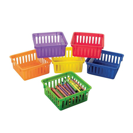 Fun Express - Classroom Small Square Plastic Basket - Educational - Educational Furniture - Storage - 6 Pieces](Homemade Halloween Baskets)
