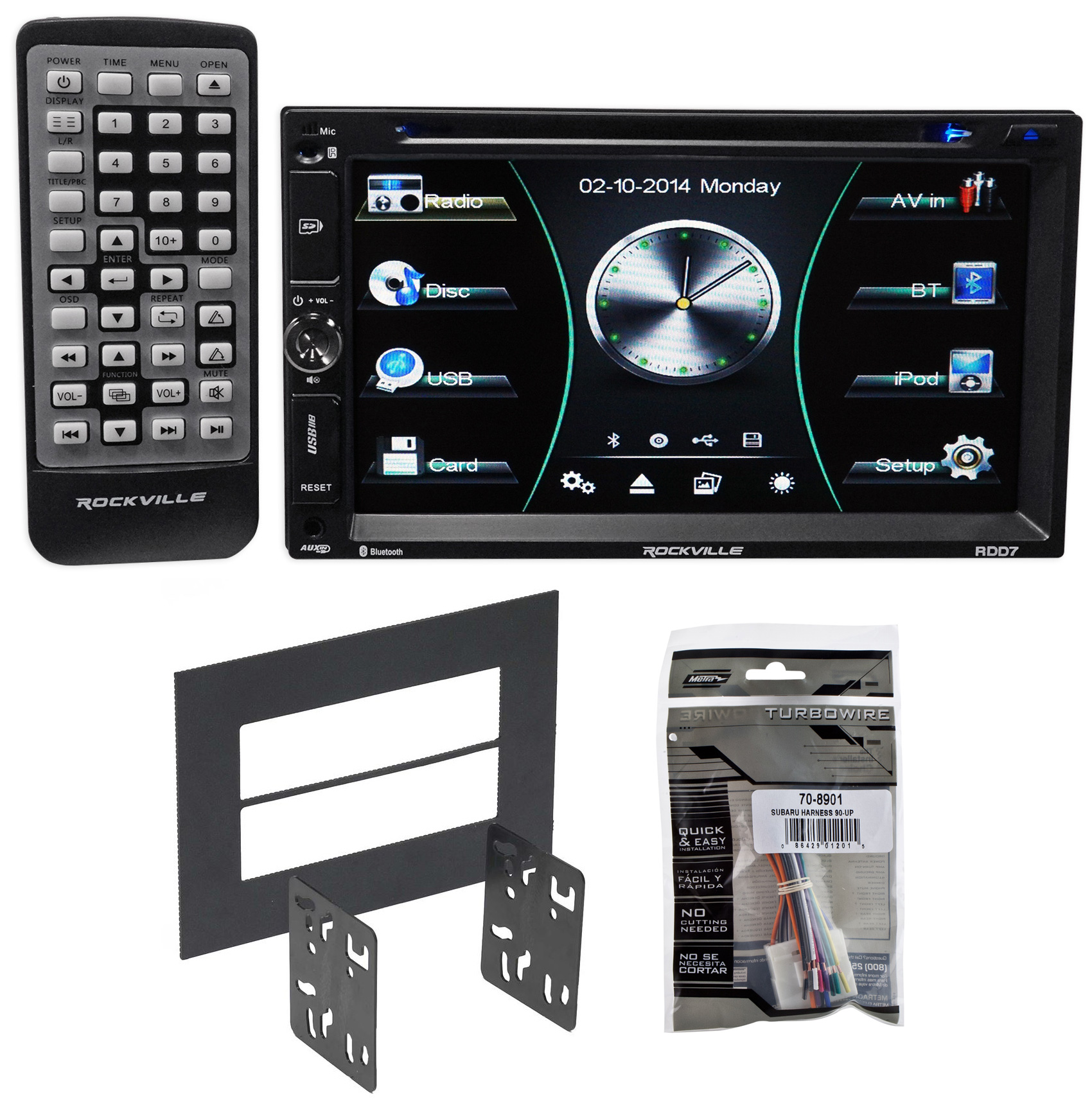 DVD/iPhone/Android/Spotify/Bluetooth Stereo Receiver For 2005-08 Subaru Forester