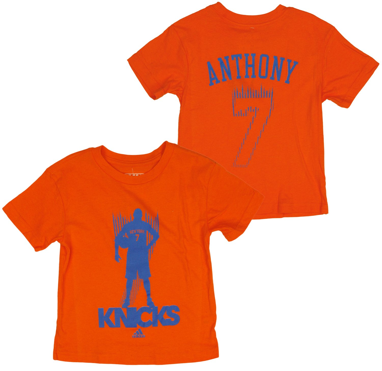 Adidas NBA Little Boys Kids New York Knicks Blur Carmelo Anthony #7 T-Shirt, Orange