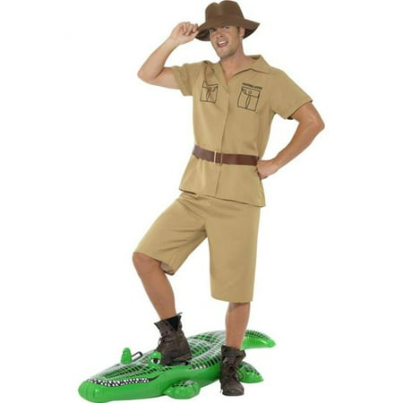 Safari Man Costume Crocodile Hunter Steve Irwin Keeper Australian Adult - Halloween River Safari
