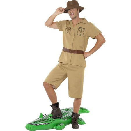 Safari Man Costume Crocodile Hunter Steve Irwin Keeper Australian - Peter Pan Crocodile Costume